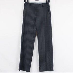 Ted Baker Gray Wool Striped Dress Pants